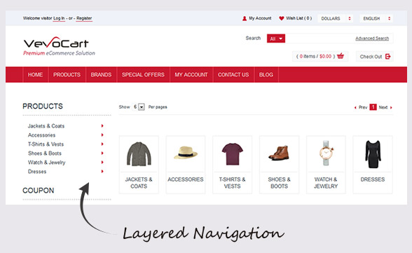 Product Browsing / Layered Navigation